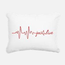 Just Live Rectangular Canvas Pillow