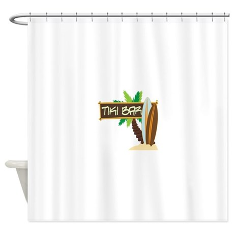 TIKI BAR Shower Curtain By Embroidery1