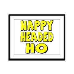 Nappy Headed Ho Yellow Design Framed Panel Print