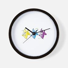 Three Fish Wall Clock