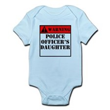 Warning Police Officers Daughter Body Suit