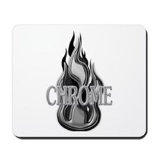 Chrome Flame Design Mousepad