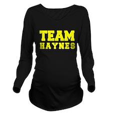 TEAM HAYNES Long Sleeve Maternity T-Shirt