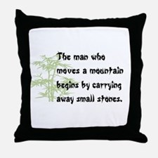 Chinese proverb Throw Pillow
