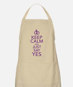 Keep Calm and Just Say Yes Apron