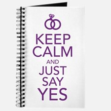 Keep Calm and Just Say Yes Journal
