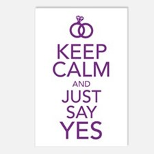 Keep Calm and Just Say Yes Postcards (Package of 8