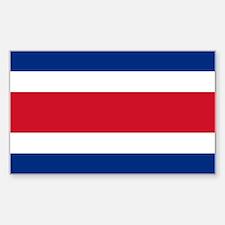 Costa Rica Flag Sticker (Rectangle)