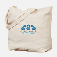 I LOVE EWE Tote Bag