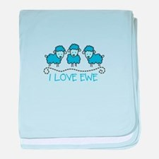 I LOVE EWE baby blanket