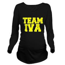 TEAM IVA Long Sleeve Maternity T-Shirt