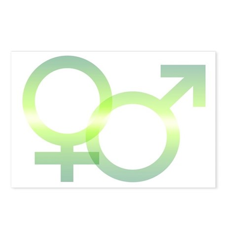 Male/Female Symbols Postcards (Package of 8)