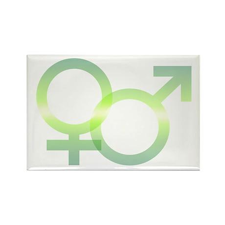 Male/Female Symbols Rectangle Magnet (100 pack)