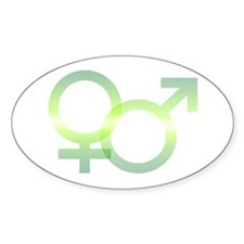 Male/Female Symbols Oval Decal