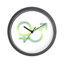 Male/Female Symbols Wall Clock