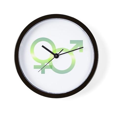 Male/Female Symbols Wall Clock