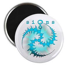 Spiral Sunburst Crop Circle Aqua Magnet