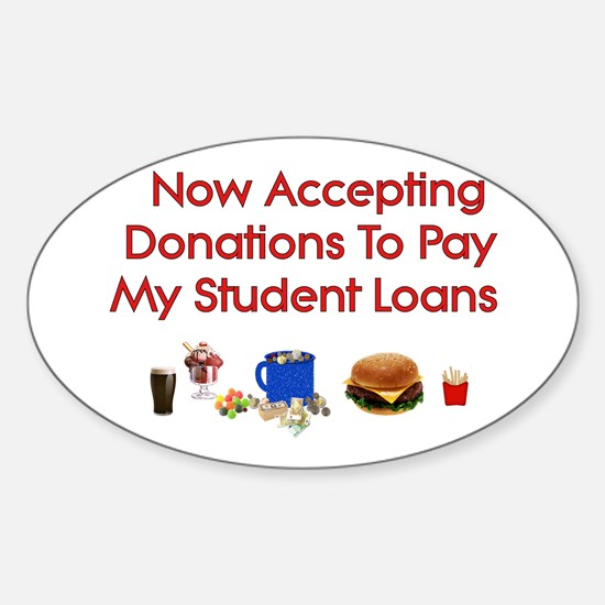 Student Loan Donations Oval Decal