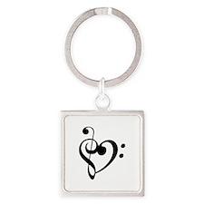 Treble Heart Keychains
