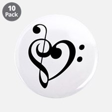 "Treble Heart 3.5"" Button (10 pack)"