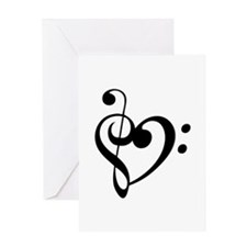 Treble Heart Greeting Cards