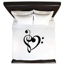 Treble Heart King Duvet