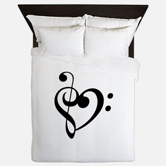 Treble Heart Queen Duvet
