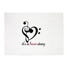Its A Love Story 5'x7'Area Rug