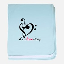 Its A Love Story baby blanket