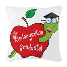 Kindergarten Graduate Woven Throw Pillow