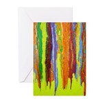 Paint Colors Greeting Cards