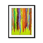 Paint Colors Framed Panel Print