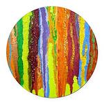 Paint Colors Round Car Magnet