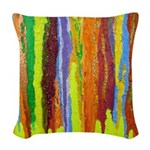 Paint Colors Woven Throw Pillow