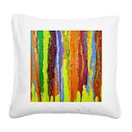 Paint Colors Square Canvas Pillow