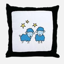 Star Sheep Throw Pillow