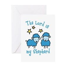 The Lord is my shepherd Greeting Cards