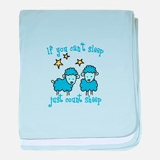 If you cant sleep just count sheep baby blanket