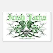Irish Jack Tribal Rectangle Decal