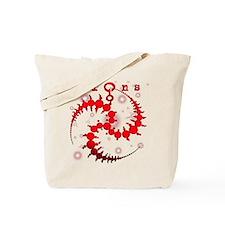 Spiral Starlight Crop Circle Tote Bag