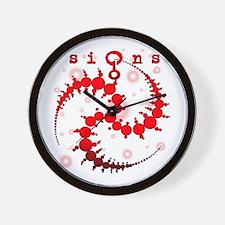 Spiral Starlight Crop Circle Wall Clock