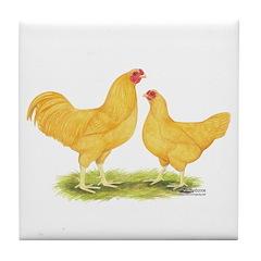 Buff Chanteclers Tile Coaster