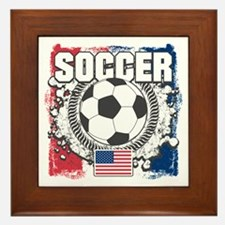 USA Soccer Framed Tile