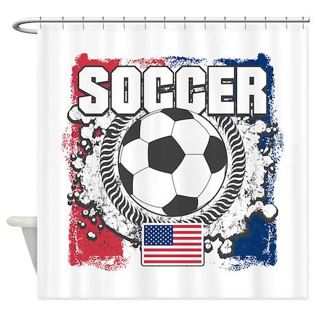 Great USA Soccer Shower Curtain