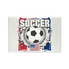 USA Soccer Rectangle Magnet