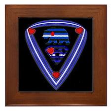 SUPER LEATHER BEAR PRIDE/BLK Framed Tile