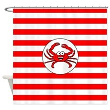 Cartoon Crab Shower Curtain