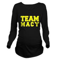 TEAM MACY Long Sleeve Maternity T-Shirt
