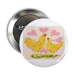 Buff Chantecler Hearts Button