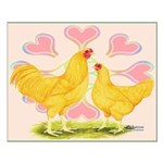 Buff Chantecler Hearts Small Poster
